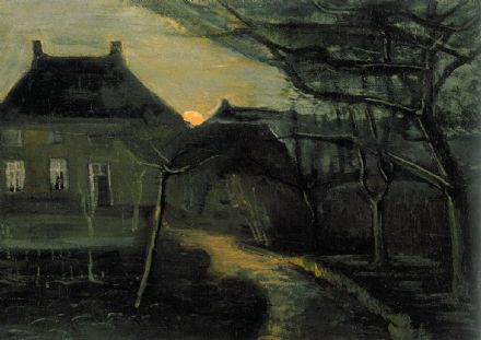 Van Gogh, Vincent: The Parsonage at Nuenen at Dusk, Seen from the Back. Fine Art Print/Poster. Sizes: A4/A3/A2/A1 (004196)